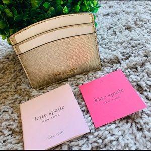Kate Spade Sylvia Cardholder - Pale Gold